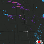 1 Inch Hail Near Grafton, ND 05-02-2012