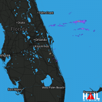 0.75 Inch Hail Near Satellite Beach, FL 04-06-2013