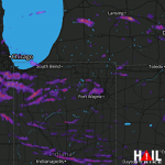2.5 Inch Hail Near Indianapolis, IN 06-13-2013