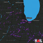 2.75 Inch Hail in the Chicago IL Region Near Rockford, IL 05-12-2014