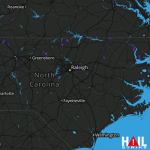 1.25 Inch Hail Near RALEIGH/DUR 08-02-2016